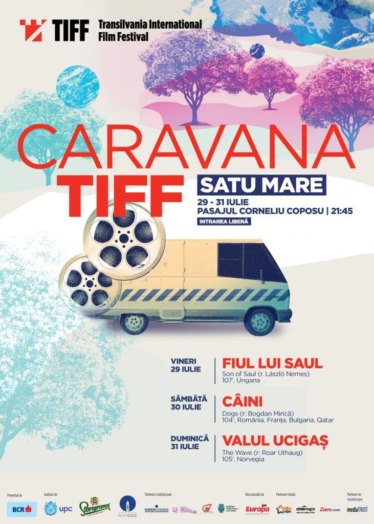În această seară încep proiecțiile Caravanei TIFF. În caz de vreme nefavorabilă filmul se proiectează în Casa de Cultură