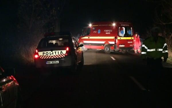 Accident în Huta Certeze. Un tată și-a rănit grav fiica după ce a ajuns cu mașina în decor