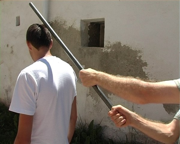 Bătaie cu parul în Odoreu. Un bărbat și-a bătut vecinul și pe fiica acestuia