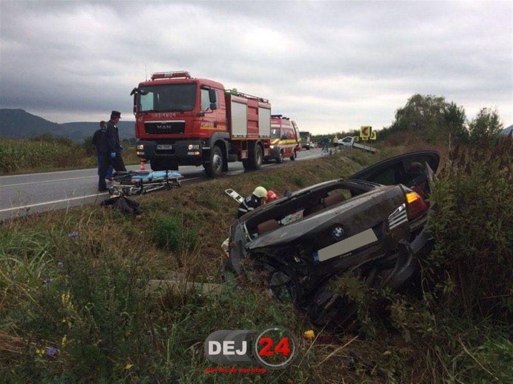 Accident provocat în Cluj de o sătmăreancă. A ajuns la spital