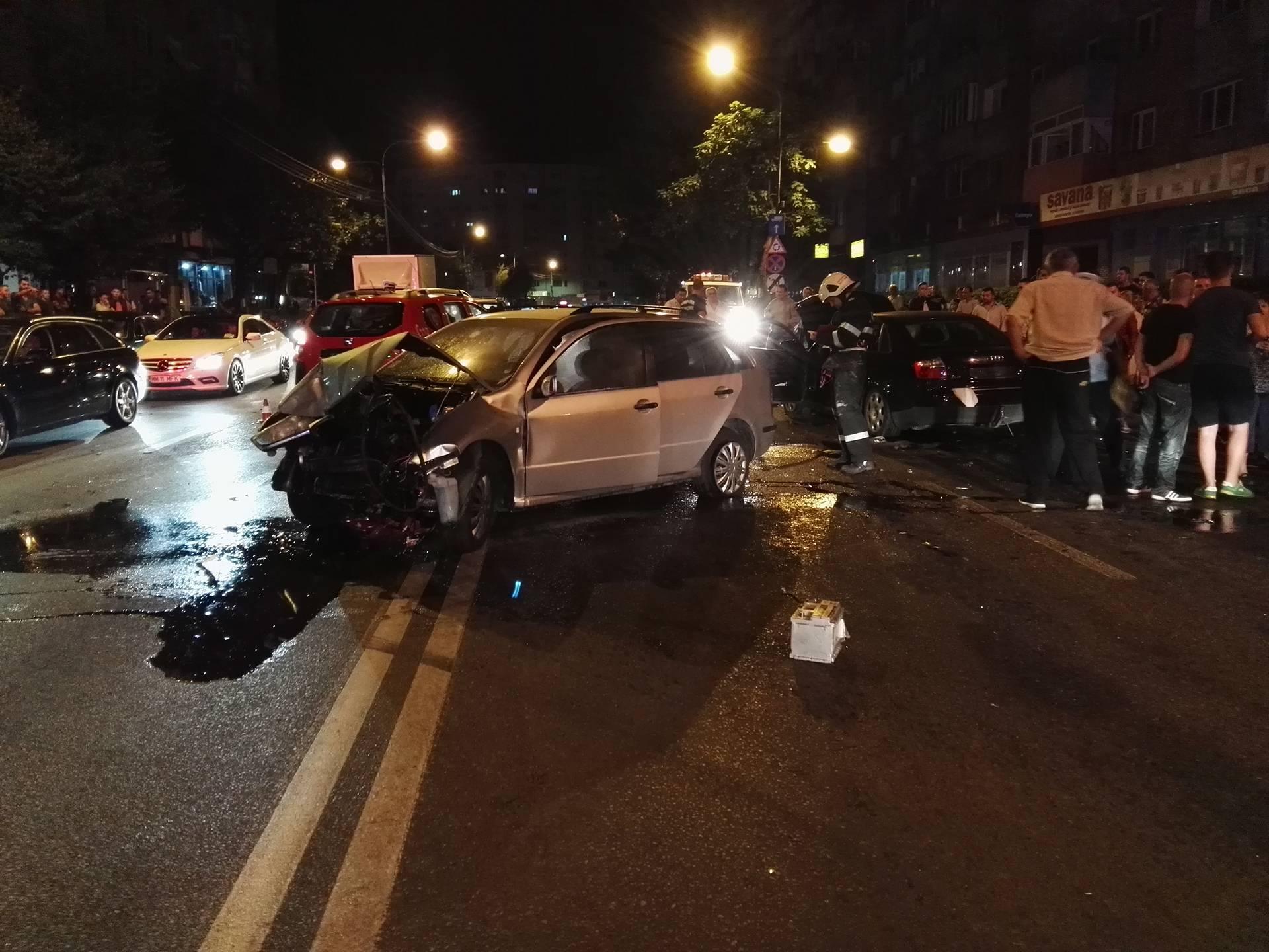 Ziua mașinilor distruse pe șosele.Cinci autoturisme accidentate în câteva ore