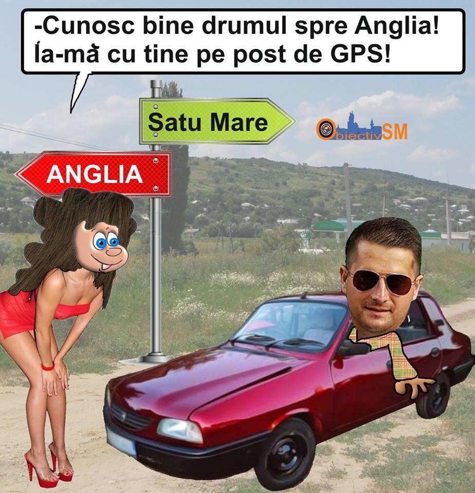 CARICATURA ZILEI!!! În drum spre Anglia…cu Dacia și GPS-ul
