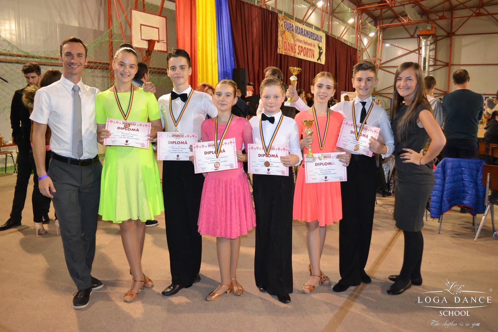 Loga Dance s-a întors de la Cupa Maramureșului cu medalii. A avut 4 perechi în finală