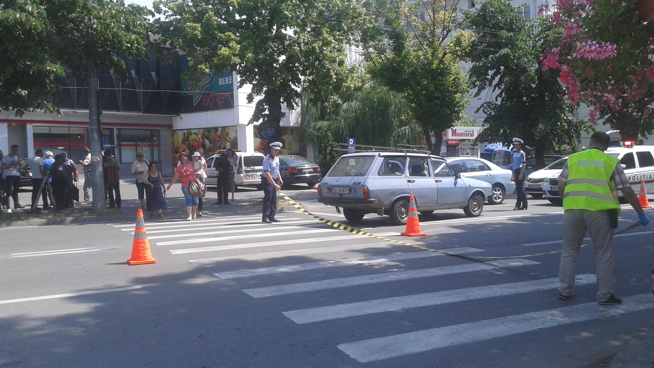 Accident la Carei. Copil de 12 ani lovit pe trecere de o șoferiță neatentă