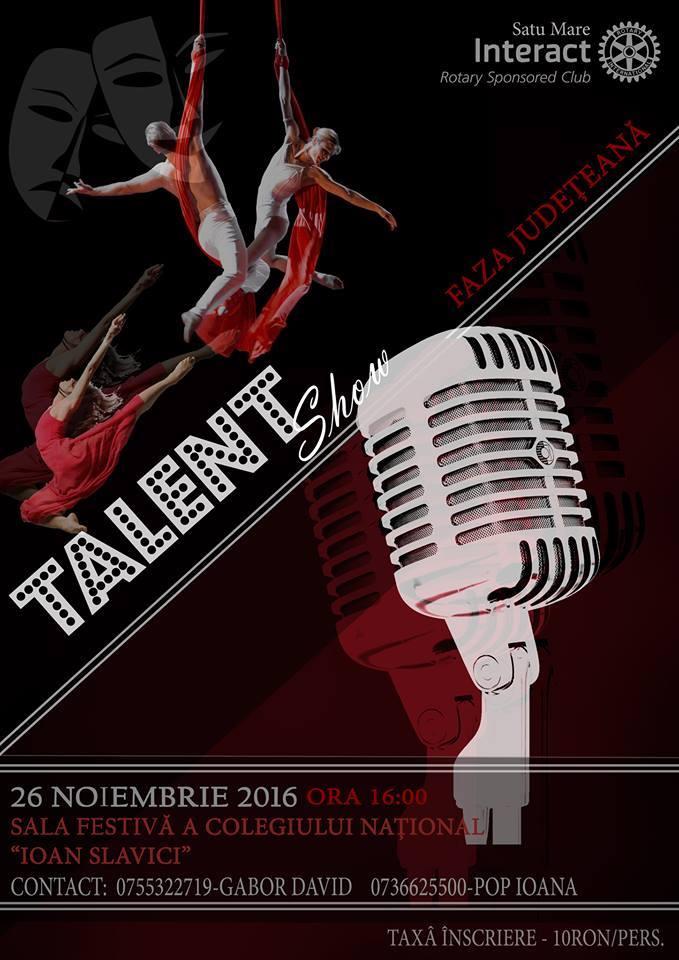 """Ai talent? Clubul Interact te poate face vedetă dacă participi la """"Talent Show"""""""