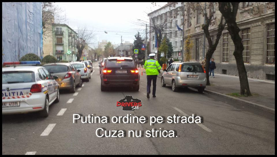 """Se întâmplă și minuni! Traficul și parcările de pe Cuza Vodă, """"aranjate"""" de poliție"""
