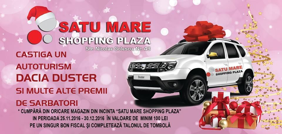 Moș Crăciun aduce o Dacia Duster pentru un client Shopping PLAZA. Intră în concurs și tu!