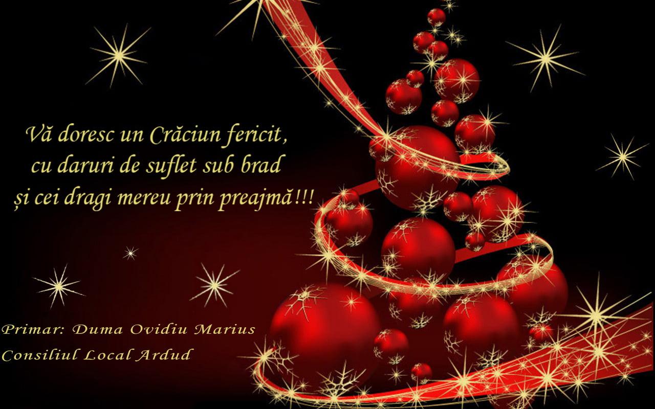 """""""Sărbători cu pace sufletească și bucurii alături de cei dragi"""" transmite conducerea orașului Ardud, tuturor sătmărenilor"""