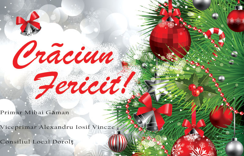 Primarul comunei Dorolț trasmit un mesaj bine de sărbători tuturor sătmărenilor