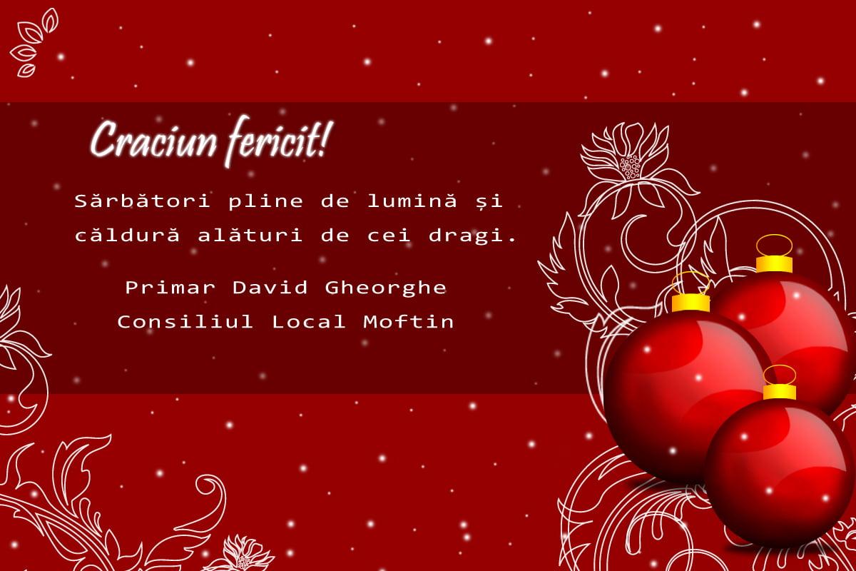 Mesajul de Crăciun al primarului comunei Moftin, pentru toți sătmărenii