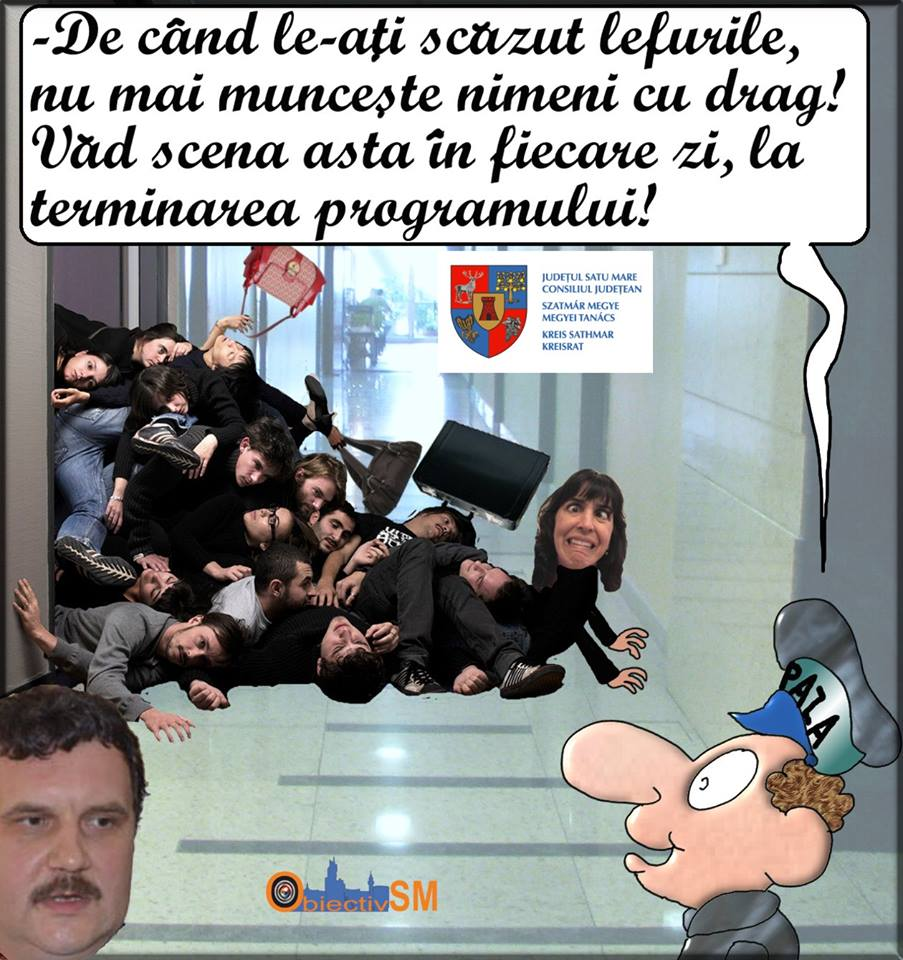 CARICATURA ZILEI!!! Nu tăierea salariilor le-a tăiat cheful de muncă