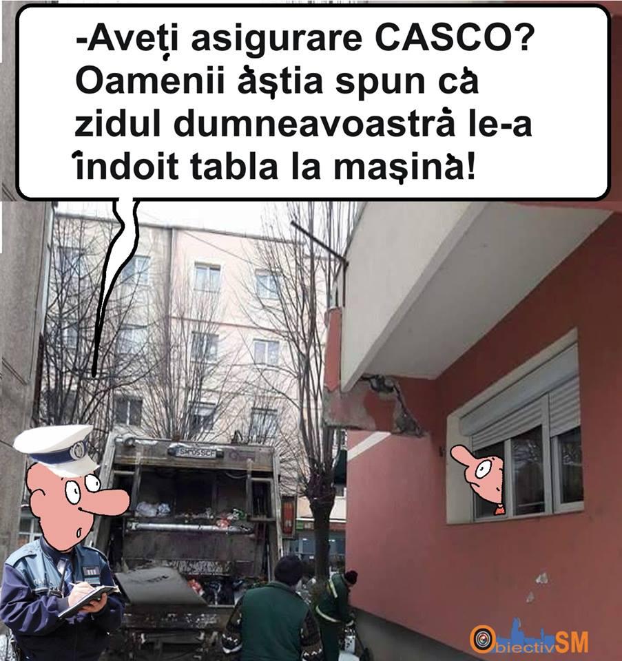 CARICATURA ZILEI!!! Gunoierii au făcut gunoi din balcon