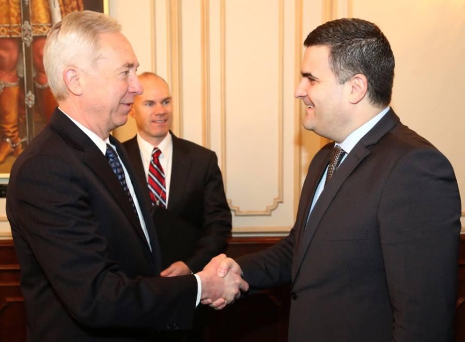 Ministrul sătmărean, la întâlnire cu americanii