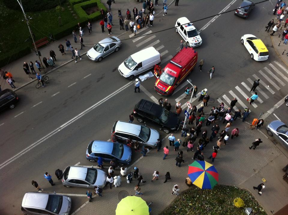 Un bărbat din Maramureș a cauzat un accident pe trecerea de pietoni în Satu Mare
