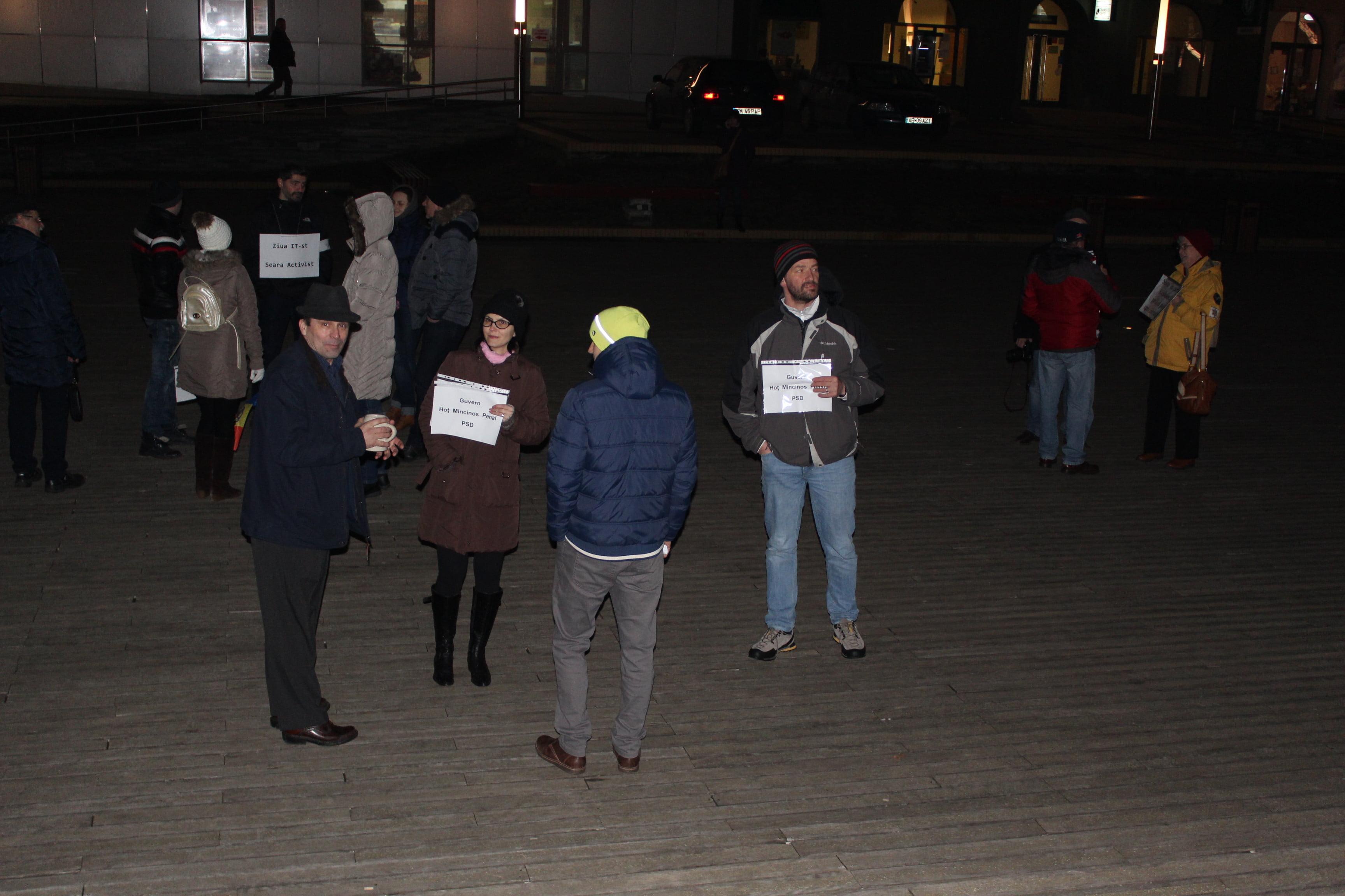 Doar 20 de protestatari la Satu Mare, vineri seara