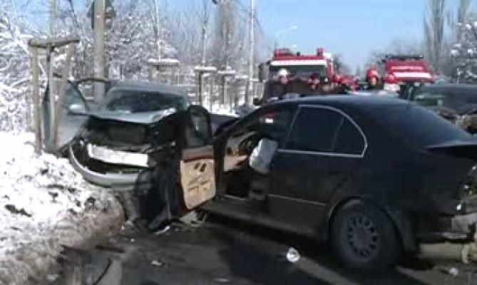 Accident cu trei mașini implicate, la Negrești