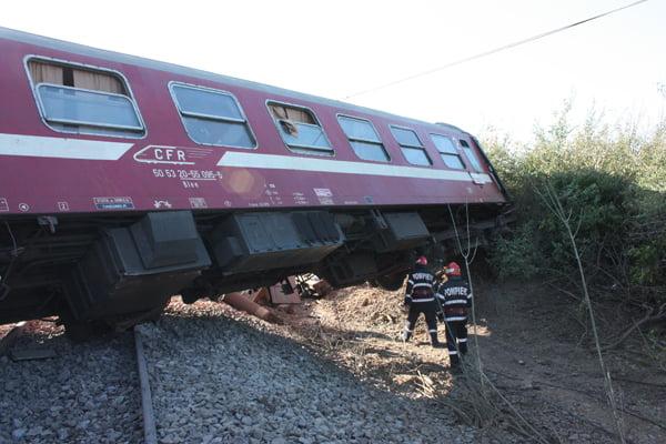 Trenul Satu Mare – Baia Mare a deraiat în Bușag