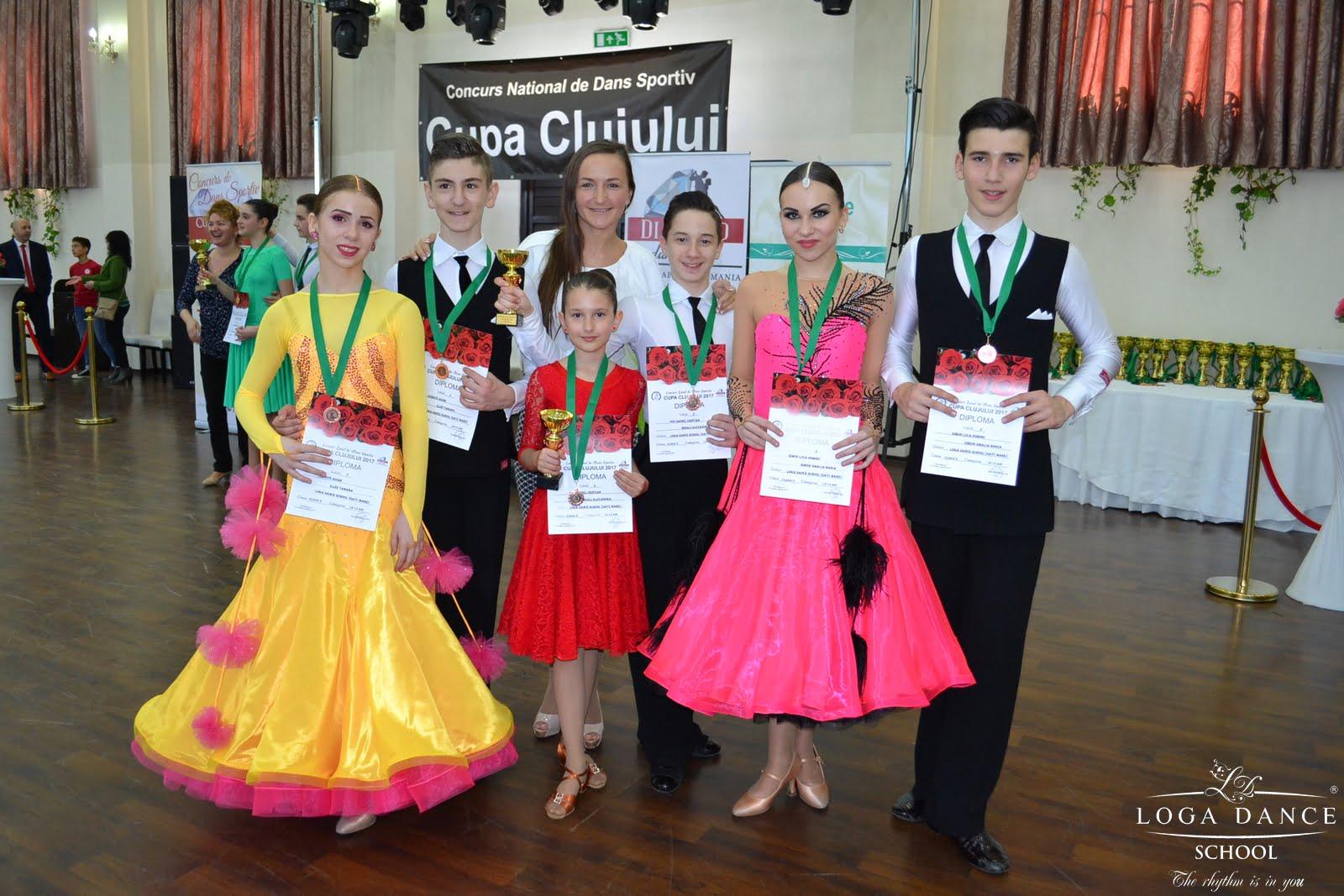 Loga Dance School s-a întors cu șapte medalii de la Cupa Clujului
