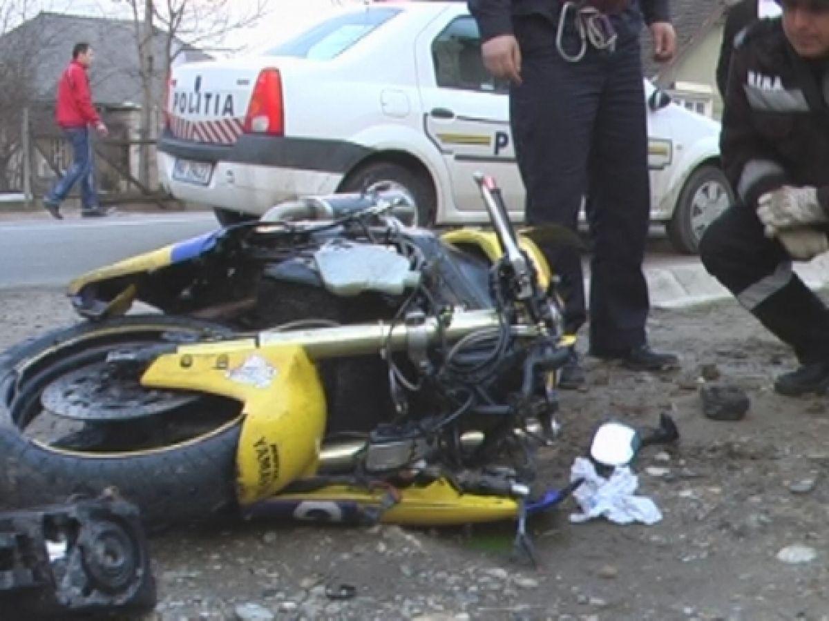 Accident între o motocicletă și o căruță la Acâș