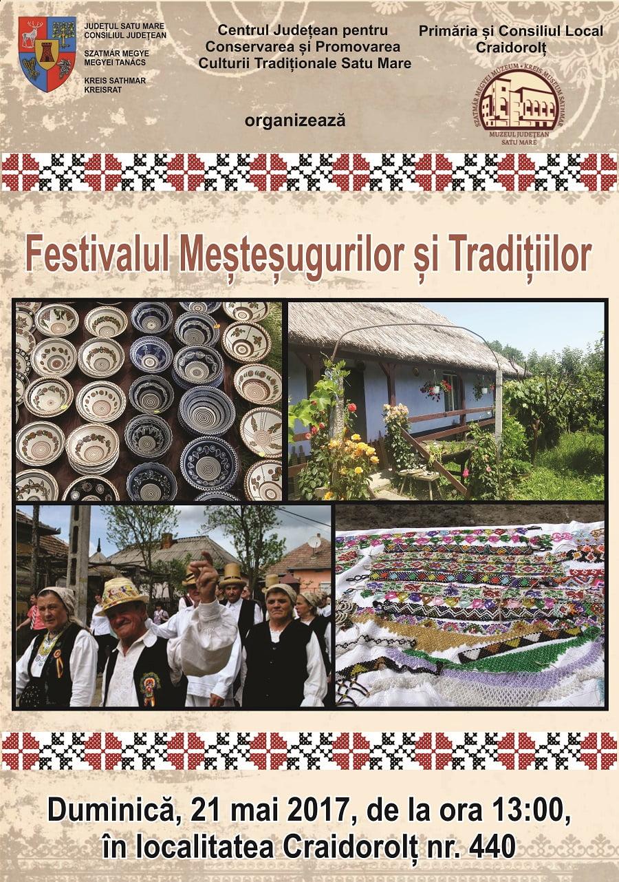 Festival de meșteșuguri și tradiții, duminică, la Craidorolț