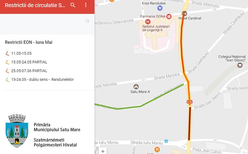 Primăria anunță restricții de circulație în centrul orașului în următoarea perioadă