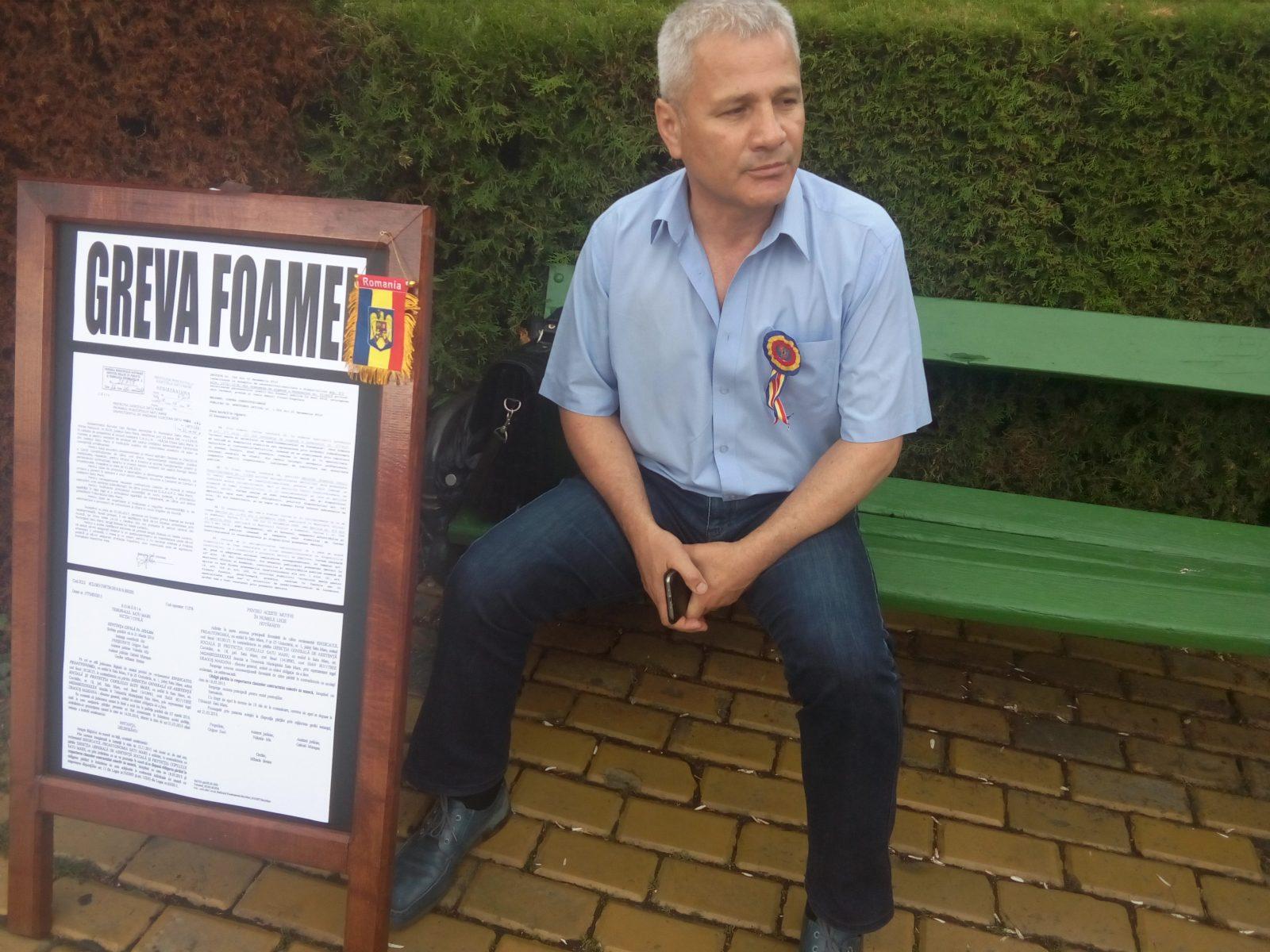 Sindicalistul Dan Burulea a inceput greva foamei
