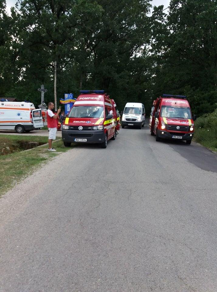 Accident cu cinci victime în comuna Călinești Oaș