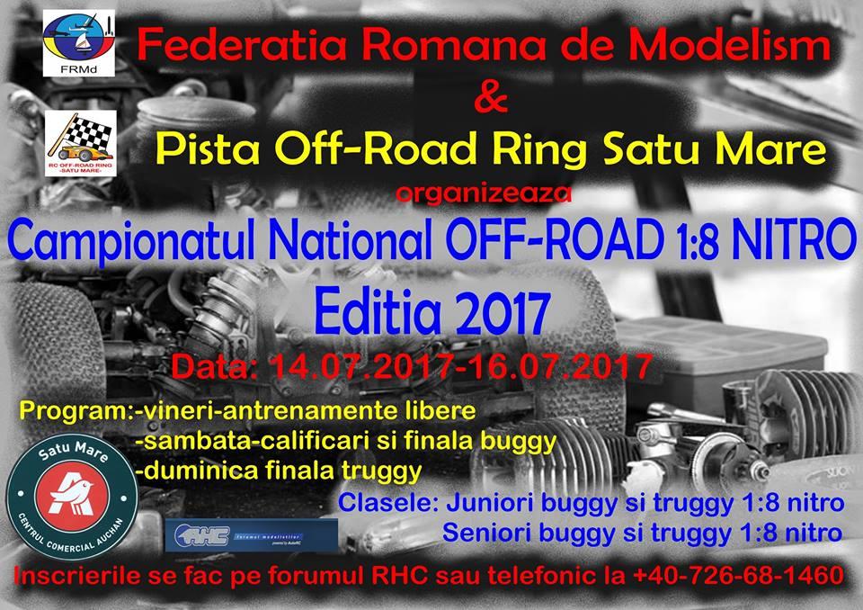 Cele mai tari și mai puternice mașini off-road, în miniatură, sunt în acest weekend la Satu Mare, la Campionatul National OFF-ROAD 1:8 NITRO EDITIA 2017