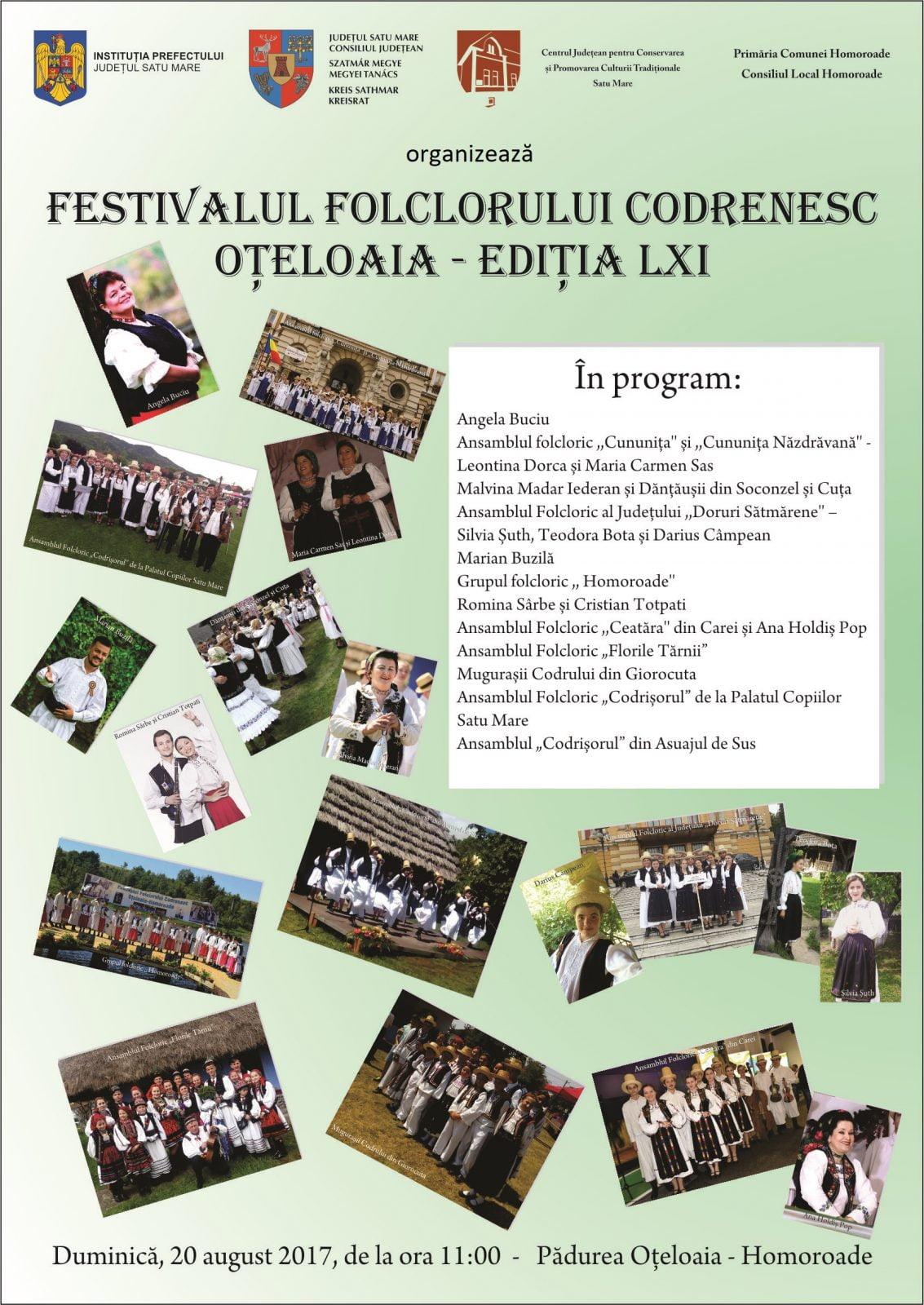 Duminică are loc o nouă ediție a Festivalului de la Oțeloaia