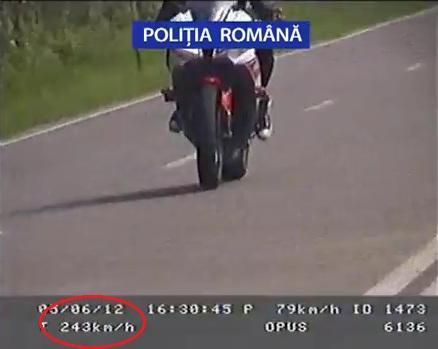 Cel mai grăbit motociclist care a trecut prin Satu Mare. Radarul l-a înregistrat cu o viteză amețitoare