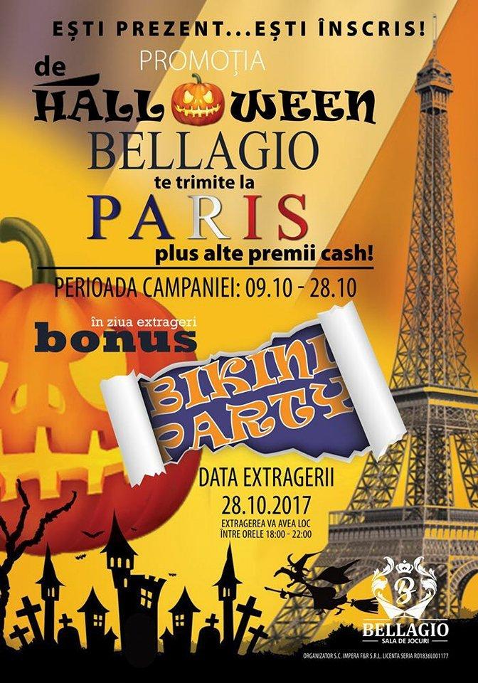 Nu a fost niciodată mai ușor de ajuns la Paris. De Hallowen, Bellagio te trimite la Paris și te umple de premii