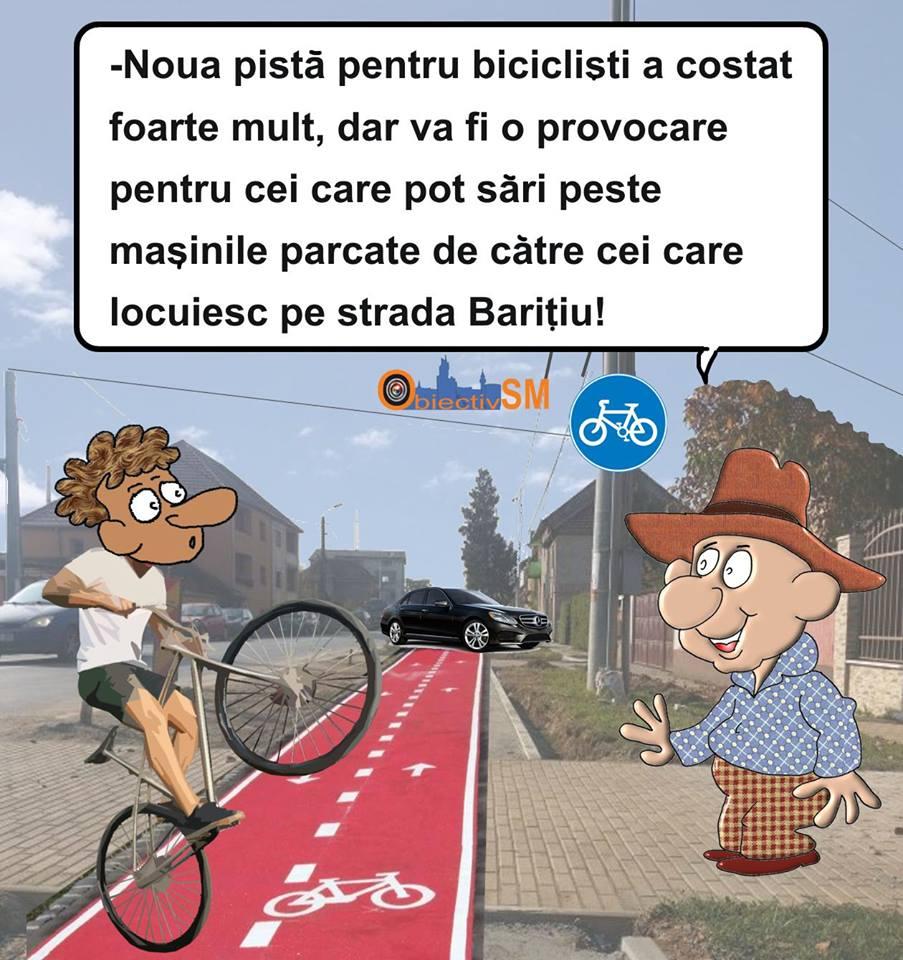 CARICATURA ZILEI!! Ciclism extrem în Satu Mare