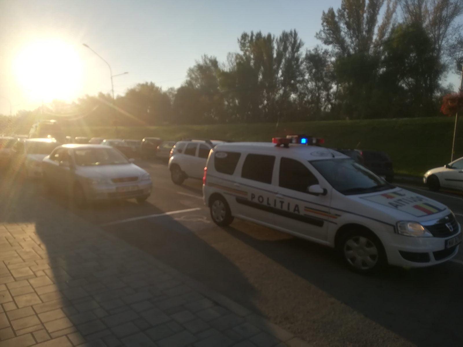 Accident în fața Palatului Administrativ