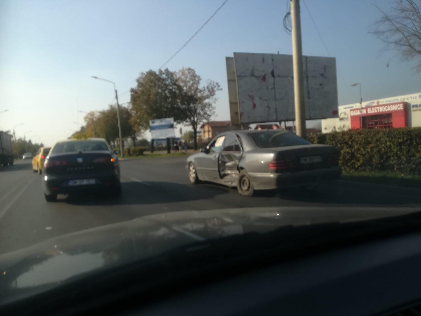 Accident în intersecția Strada Careiului  cu strada Platanului