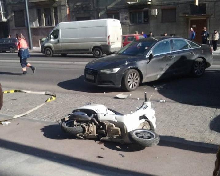 Un bărbat din Gherța a accidentat un motociclit într-o intersecție, după ce nu i-a acordat prioritate