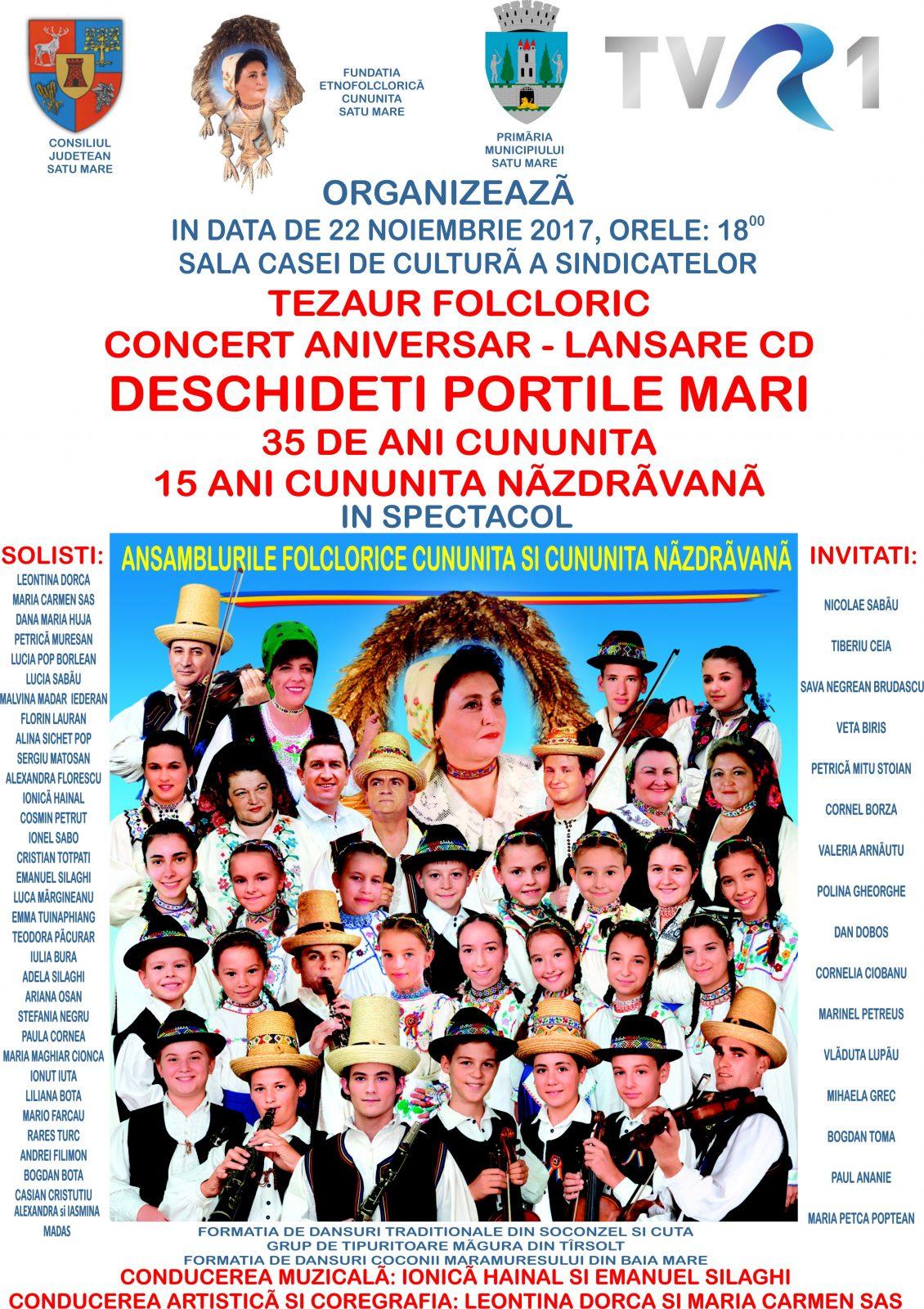 Ansamblul Cununița sărbătorește 25 de ani de activitate printr-un spectacol în 22 noiembrie