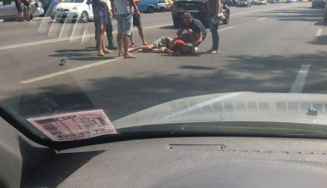 Accident la Casa de Modă. Un bătrân a fost rănit ușor
