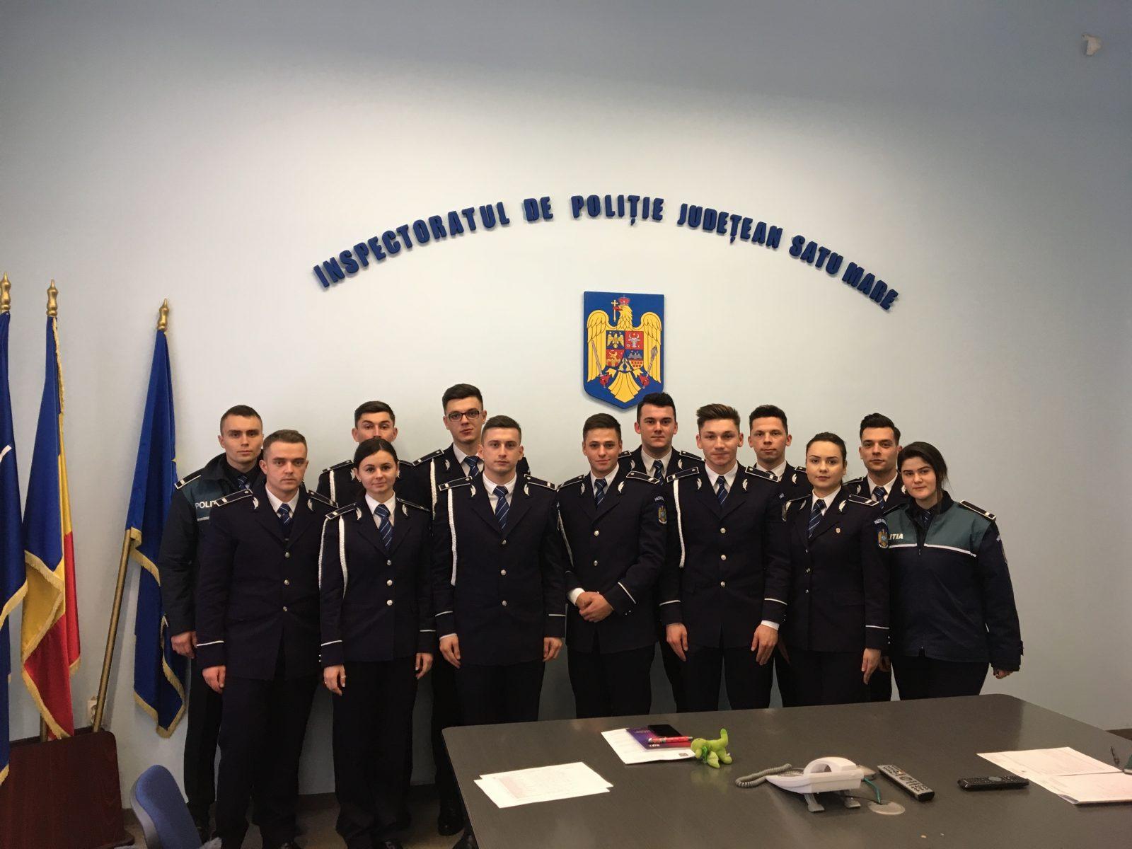 IPJ Satu Mare are 13 noi agenți, proaspeți absolvenți