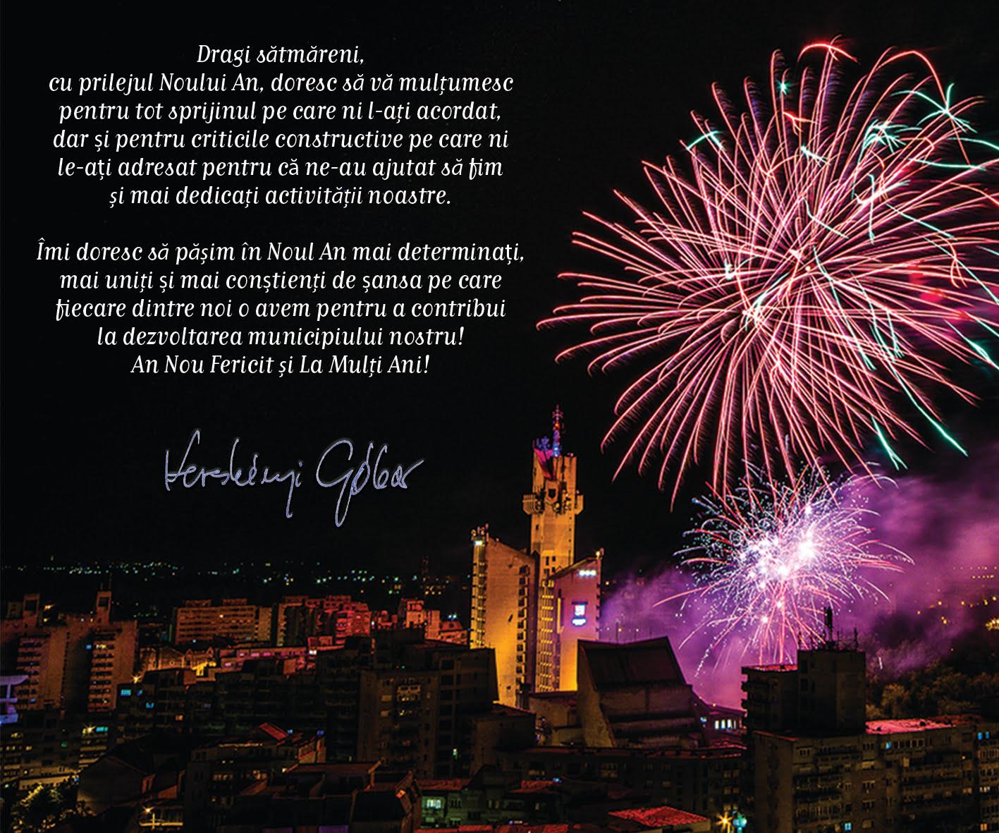 Mesajul primarului Kereskenyi Gabor de Anul Nou