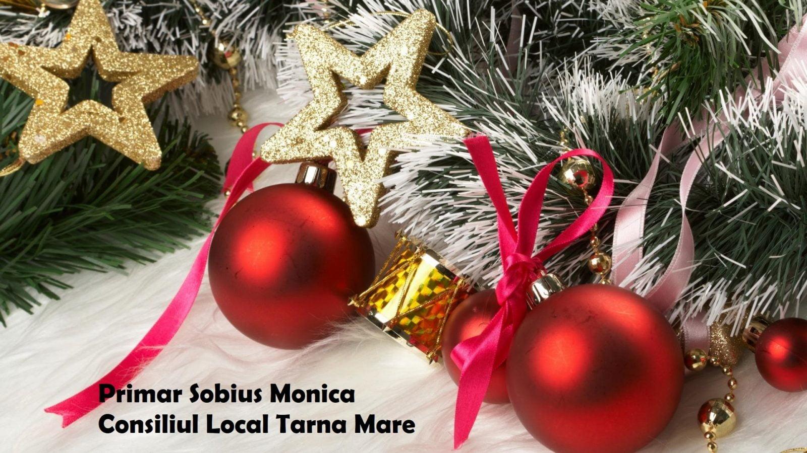 Mesajul de Crăciun al Primăriei Tarna Mare și a doamnei primar Sobius Monica