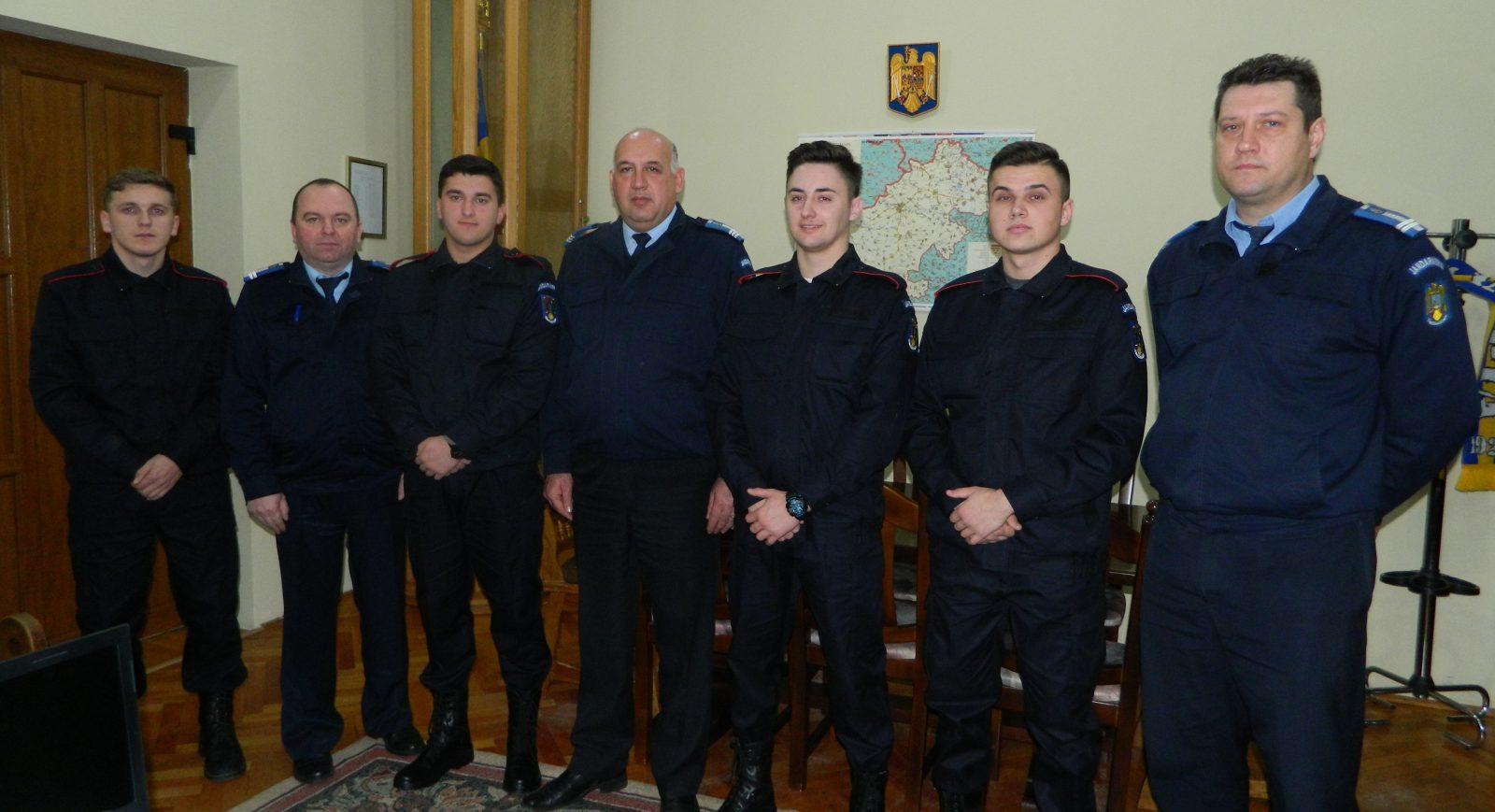 Patru elevi au început practica la Inspectoratul de Jandarmi Satu Mare