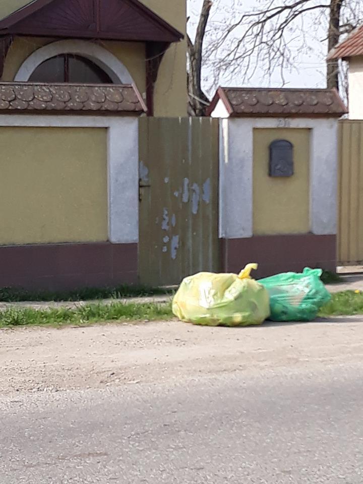 """Primarul de comună care dă """"lecții"""" despre colectarea selectivă  – saci colorați la fiecare poartă"""