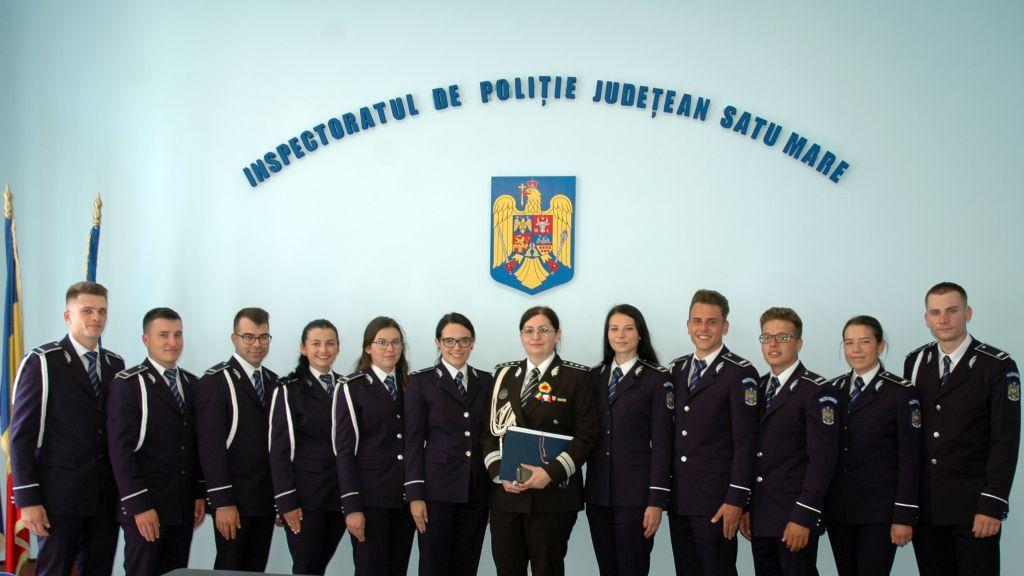 11 proaspeți absolvenți ai școlilor de poliție au ajuns la Satu Mare