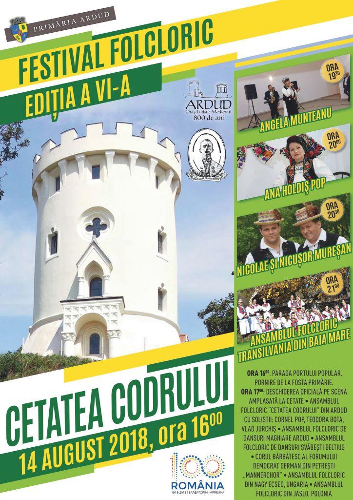 """Programul Festivalului Folcloric """"Cetatea Codrului"""" – ediția a VI-a"""