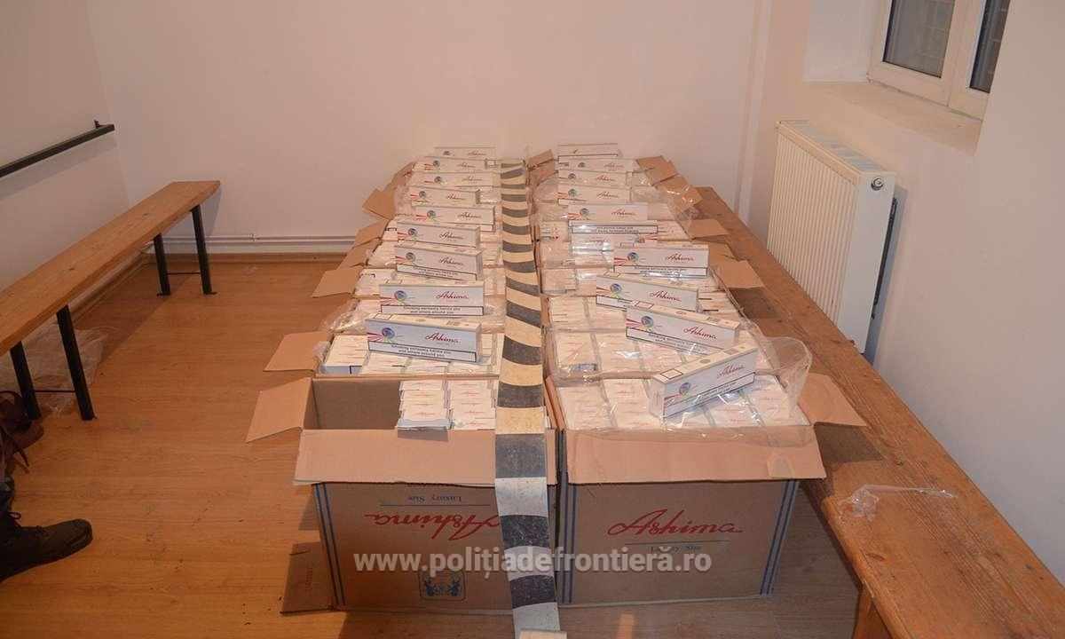 Aproximativ 18.500 de pachete cu țigări descoperite de I.T.P.F. Sighetu Marmației