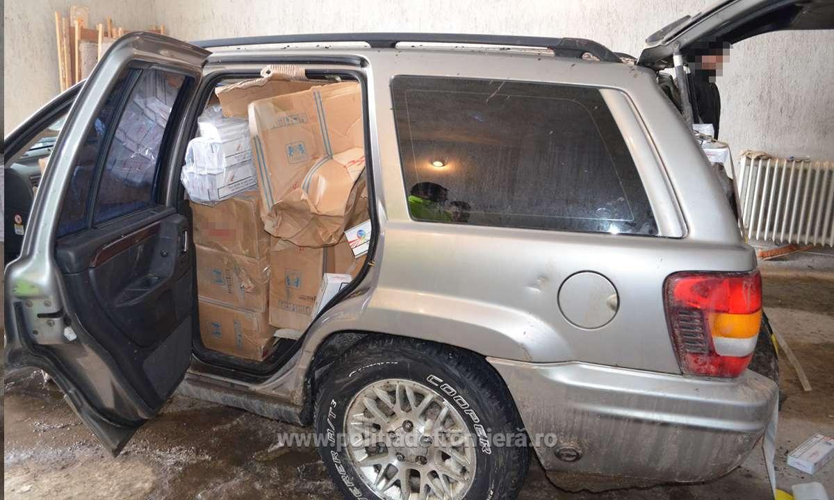 Aproximativ 14.000 de pachete cu ţigări, confiscate la frontiera de est