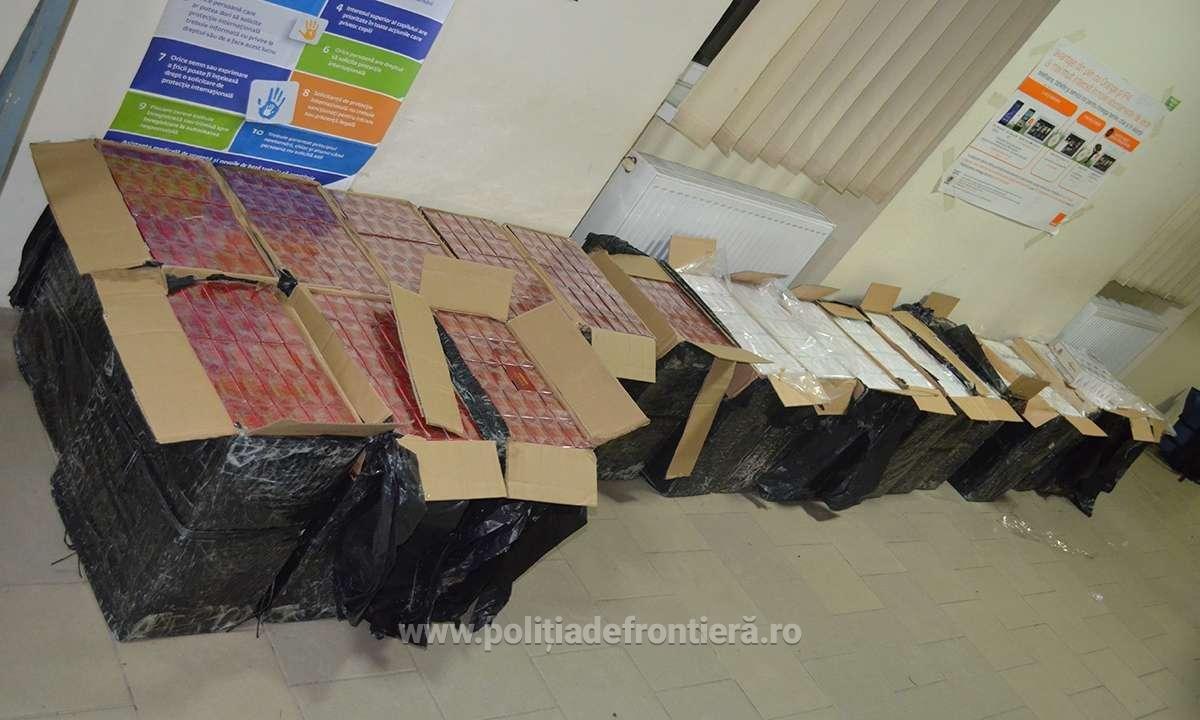 10.000 pachete cu țigări de contrabandă, confiscate la frontiera de nord