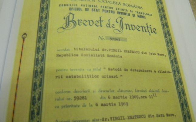 Primul brevet de inventie al doctorului Virgil Enatescu
