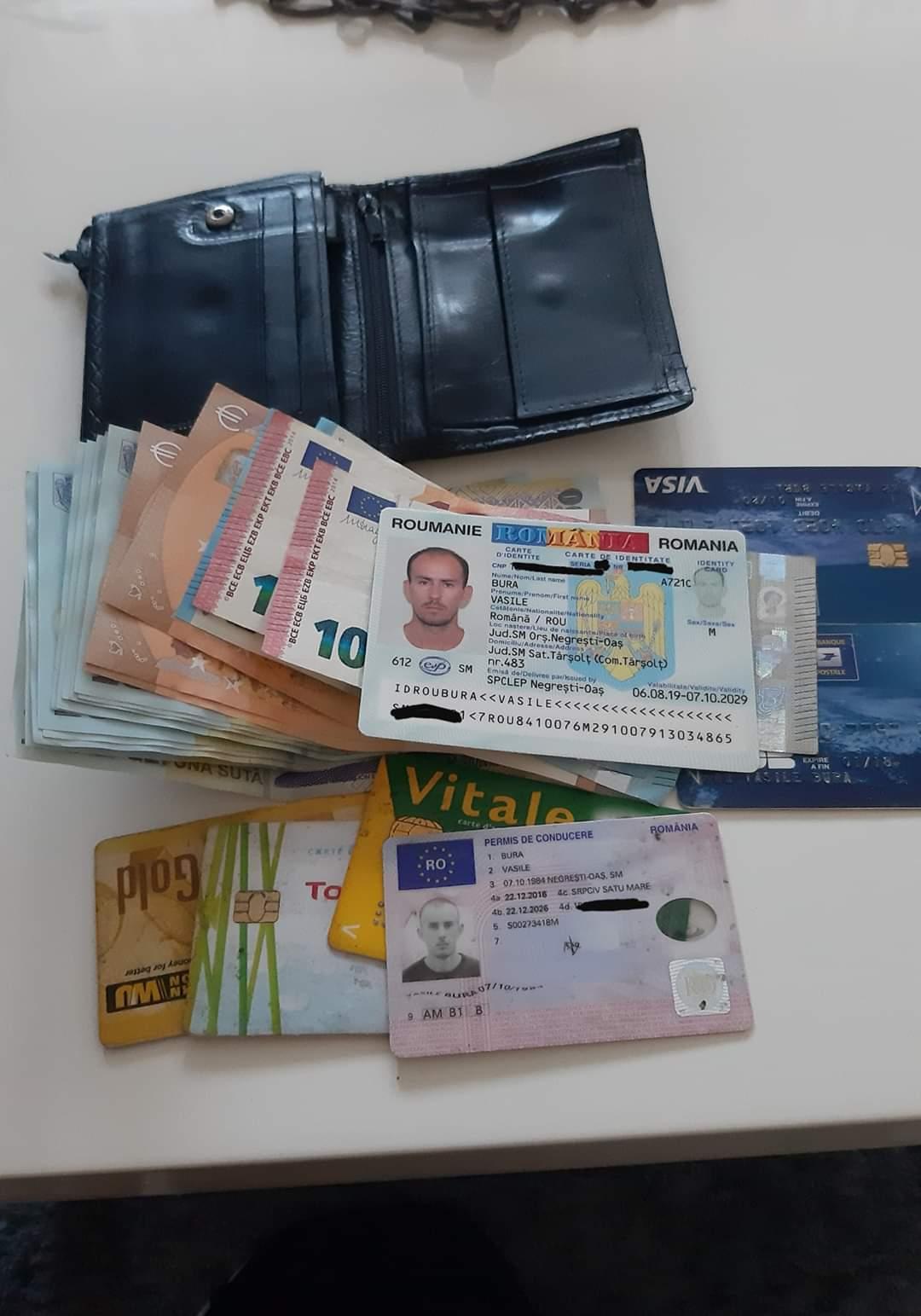 Proprietarul portofelului cu bani a fost găsit. Felicitări Răzvan Libotean pentru gest!!!