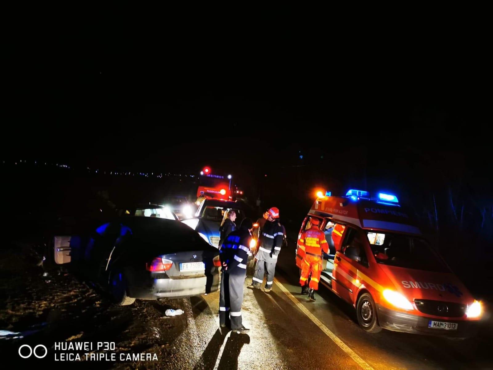Cod roșu – Accident cu 5 victime în Gherța, o gravidă și un bebeluș printre victime